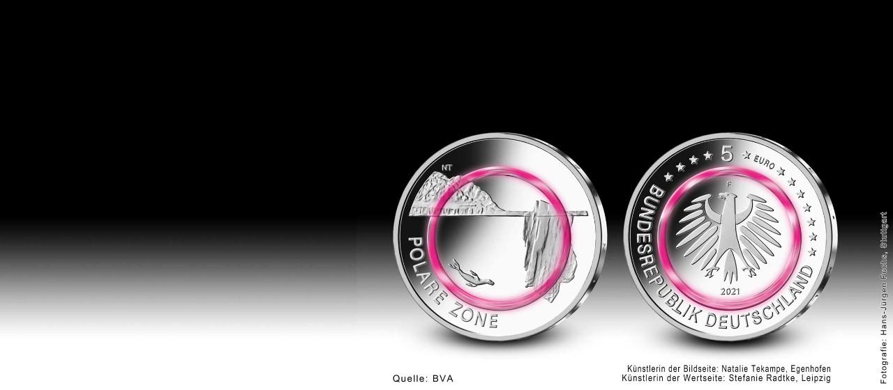 10-Euro-Sondermünze - Auf dem Wasser