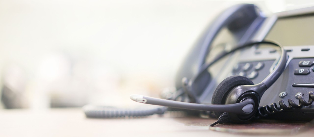 Telefon mit Headset